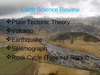 Earth Science Volcano, Earthquake, and Plate Tectonic Review PPT