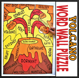 Earth Science Natural Disasters - Volcano Word Wall Puzzle