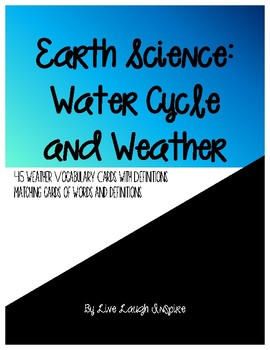 Earth Science: Water Cycle and Weather