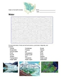 Earth Science - Water - Water on the Earth's Surface - Wordsearch Puzzle