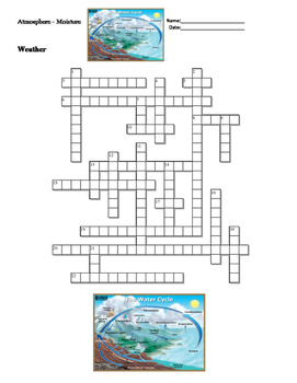 Earth Science - Weather - Atmosphere and Moisture - Crossword Puzzle