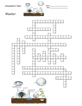 Earth Science - Weather - Atmosphere and Heat - Crossword Puzzle