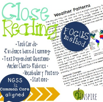Earth Science: Weather Patterns Close Reading Evidence and