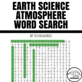 Earth Science - Atmosphere Vocabulary Word Search