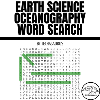 Earth Science Word Search   - Oceanography