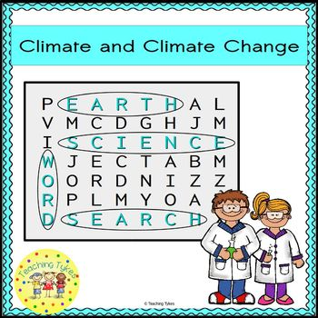 Climate and Climate Control Word Search