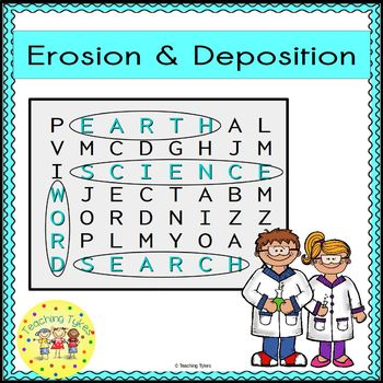 Erosion and Deposition Word Search