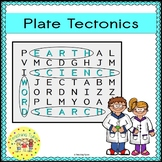 Plate Tectonics Word Search