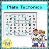 Plate Tectonics Word Search