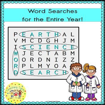 Earth Science Word Search Puzzles