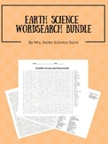 Earth Science Word Search Puzzles Bundle