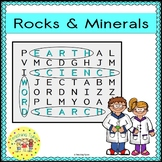 Rocks and Minerals Word Search