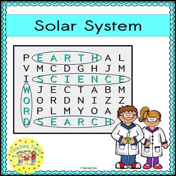 Solar System Word Search Earth Science