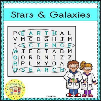 Stars and Galaxies Word Search Earth Science