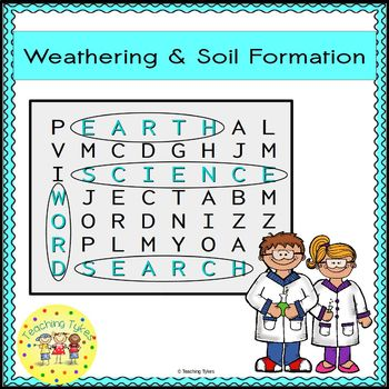 Weathering and Soil Formation Word Search