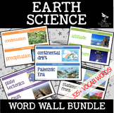 EARTH SCIENCE Word Wall - 340+ vocab terms