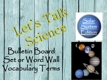 Earth Science Word Wall/Bulletin Board Display- Solar System Edition