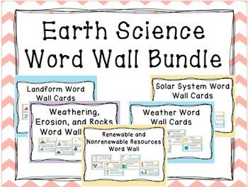 Earth Science Word Wall