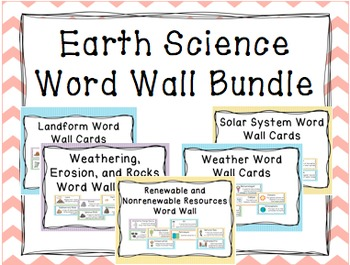 Earth Science Word Wall