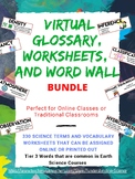 Science Digital Word Wall Activities (Earth Science)