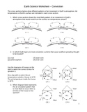 High School Earth Science Worksheet - Convection