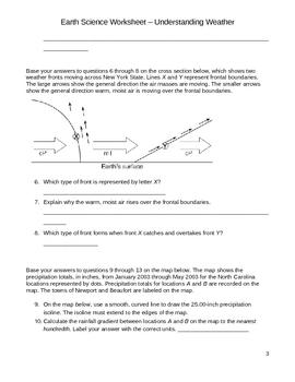 Free High School Earth Science Worksheet - Understanding Weather