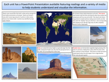 Deserts - Earth Science and Geography - Unit 10