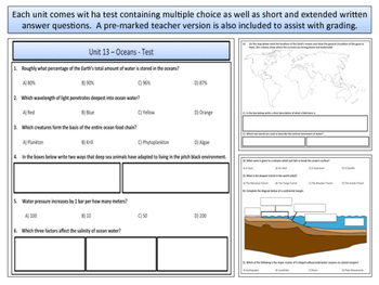 Oceans - Earth Science and Geography - Unit 13