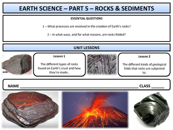 Rocks and Sediments - Earth Science and Geography - Unit 5