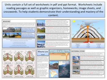 Mountains & Volcanoes - Earth Science and Geography - Unit 6