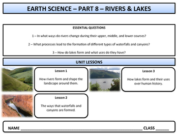 Rivers, Canyons, & Lakes - Earth Science and Geography - Unit 8