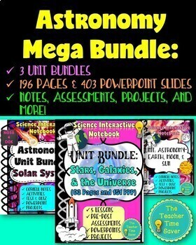 Earth and Astronomy Science Interactive Notebook Unit Plan Bundle