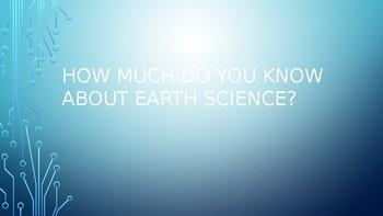 Earth Science intro quiz