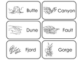 Earth Science printable Picture Word Flash Cards. Preschoo