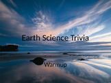 Earth Science trivia warmup