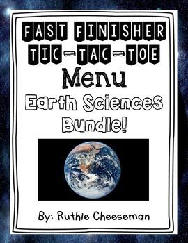 Earth Sciences Choice Menu Bundle