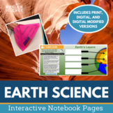 Earth Science Interactive Notebook Pages - Print & Digital