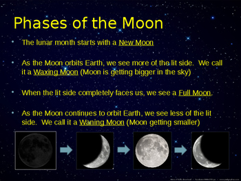 Earth, Sun, Moon, Seasons, Phases of the Moon, Eclipses and Tides and SUPERMOON