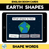 Earth Shape Recognition Boom Cards Distance learning