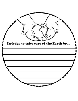 Earth Shaped Book for Earth Day