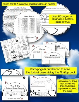 EARTH SHAPED FLIP BOOK: CELEBRATE EARTH DAY!