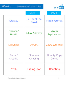 Earth, Sky, and Seasons Activities Unit