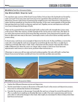 Earth Space - Erosion & Deposition - STEM Worksheet