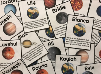 Earth & Space Name Tags