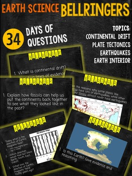 Earth Space Science Bellringer Bellwork Questions
