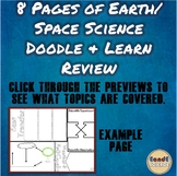 Earth/ Space Science Doodle Semester Review (16 TOPICS COVERED)