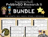 Earth & Space Science PebbleGO Research It BUNDLE (Earth, Sun, Moon, Stars)