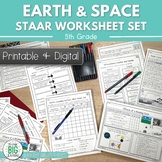 Earth & Space Science STAAR Review Worksheets 5th Grade