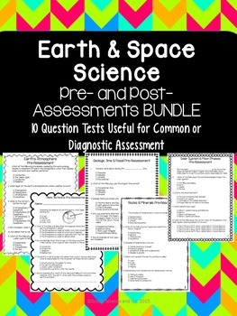Earth and Space Science Quiz BUNDLE