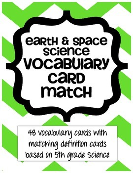 Earth & Space Science Vocabulary Card Match